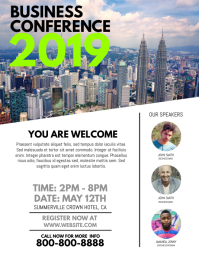 Corporate poster templates postermywall business conference flyer cheaphphosting Images