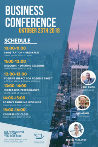 Business Conference Schedule Flyer Template