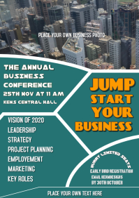 Business conference template flyer