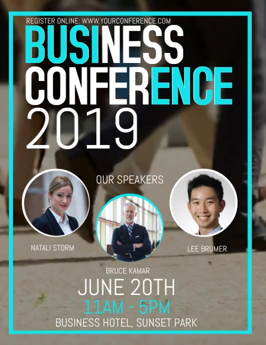 Business Conference Video Flyer template