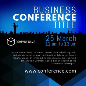Corporate video templates postermywall business conference video template wajeb Gallery