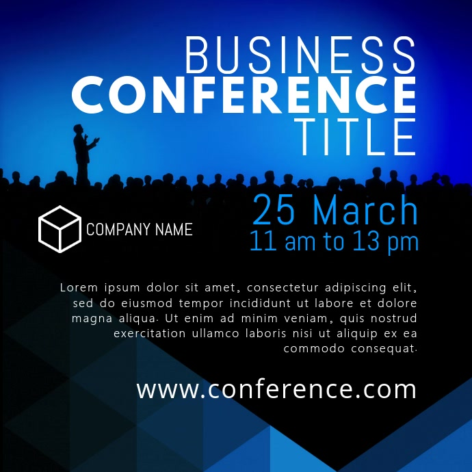 Business Conference Video Template Persegi (1:1)