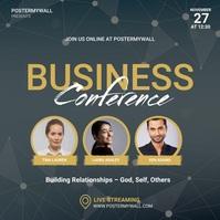 Business Conference Video template Quadrato (1:1)