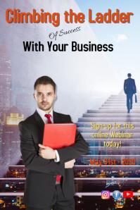 business/confidence/webinar/seminar/success Póster template