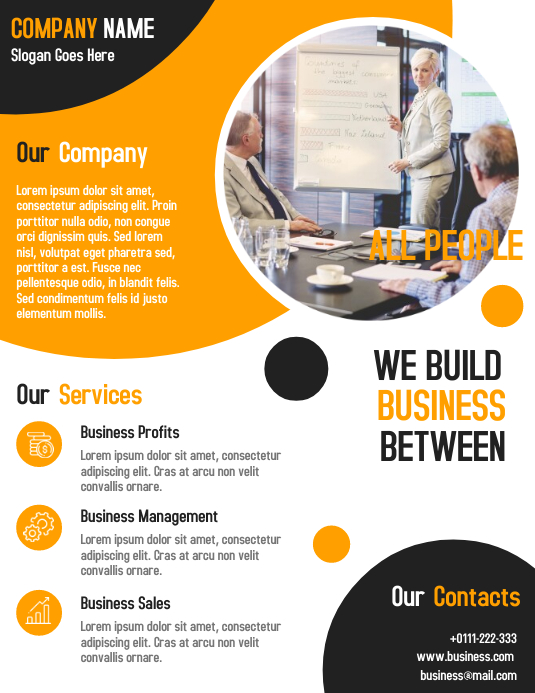 Business consultant flyer template design
