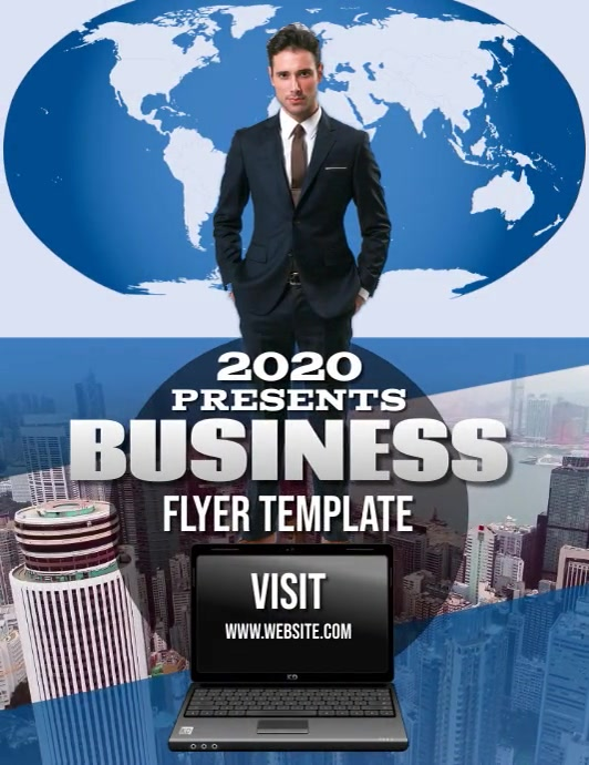 BUSINESS CONSULTING ADVISER FLYER Pamflet (Letter AS) template