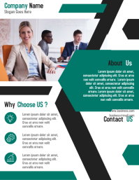Business corporate agent flyer template design