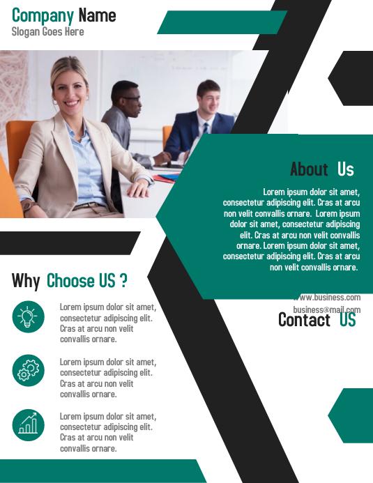 Business corporate agent flyer template design