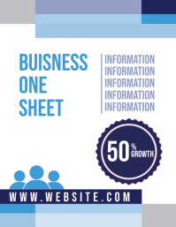 Business Corporate One sheet Flyer (US Letter) template