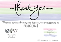 Business Customer Appreciation Card A3 template