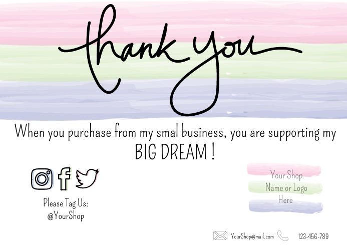 Business Customer Appreciation Card A3 template