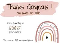 Business Customer Appreciation Card Postcard template