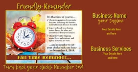 Business Daylight Savings Postcard