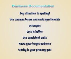 Business Documentation and Communication