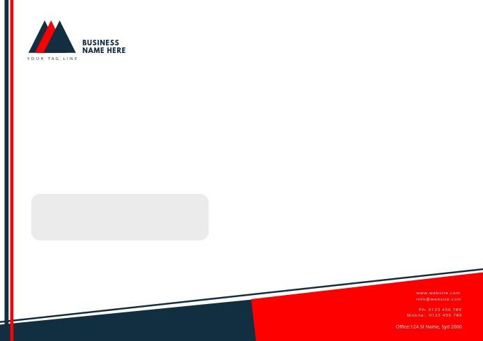 BUSINESS envelop letterhead TEMPLATE A4