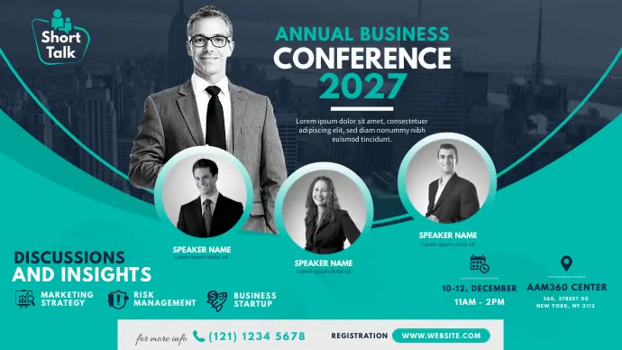 Business Event   Conference Ad โพสต์บน Twitter template