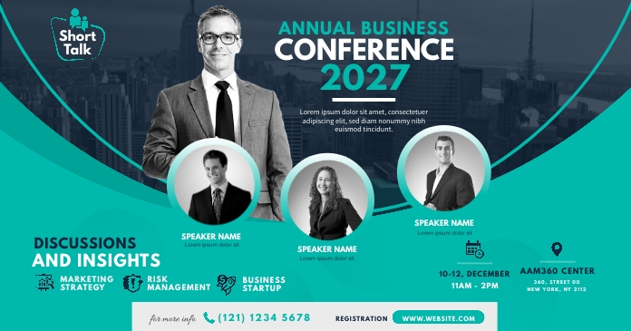 Business Event | Conference Ad Gambar Bersama Facebook template