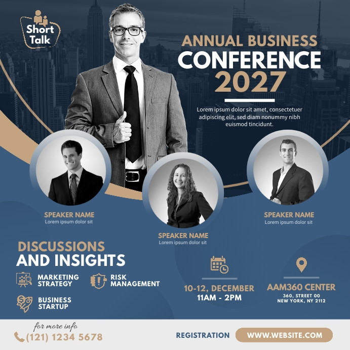 Business Event | Conference Advert Pos Instagram template