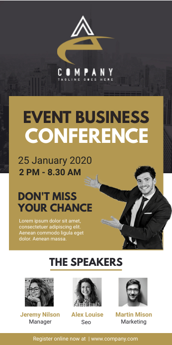 Business Event Conference Roll Up Banner Stan
