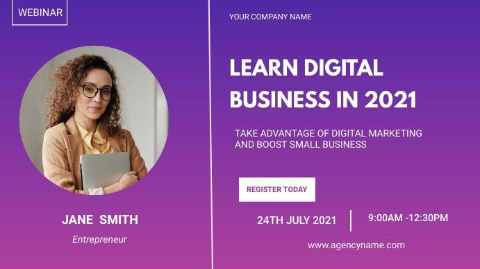 Business event flyer Presentation (16:9) template