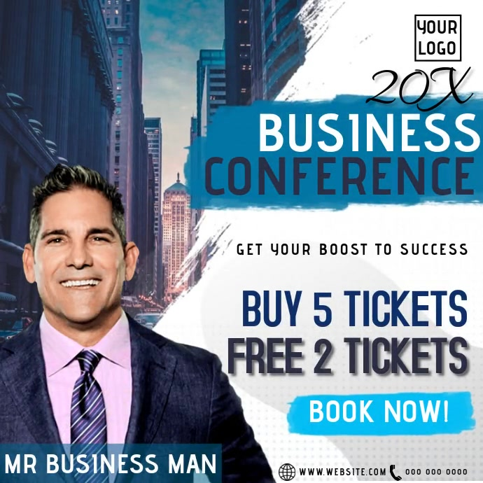BUSINESS EVENT SPEAKER AD TEMPLATE