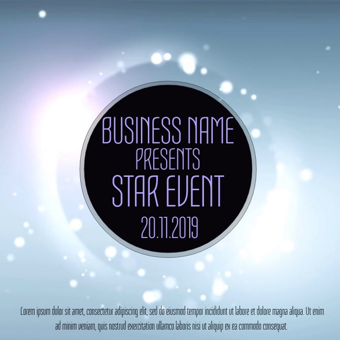 Business Event Video Template