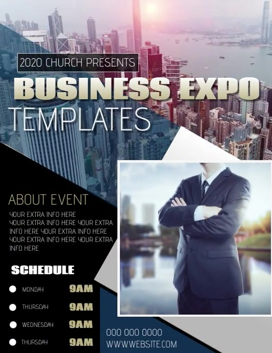 BUSINESS EXPO AD TEMPLATE ใบปลิว (US Letter)