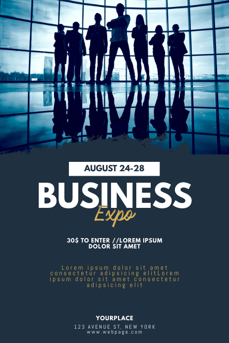 Business Expo Conventions Flyer Template