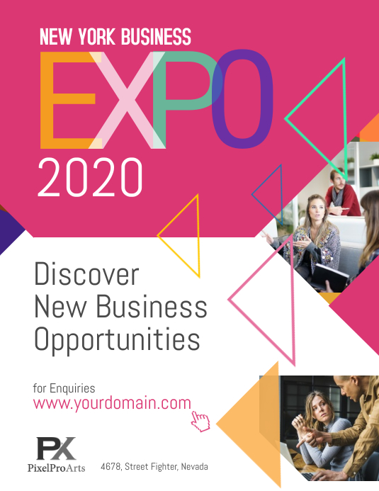 business expo exhibition poster flyer template postermywall