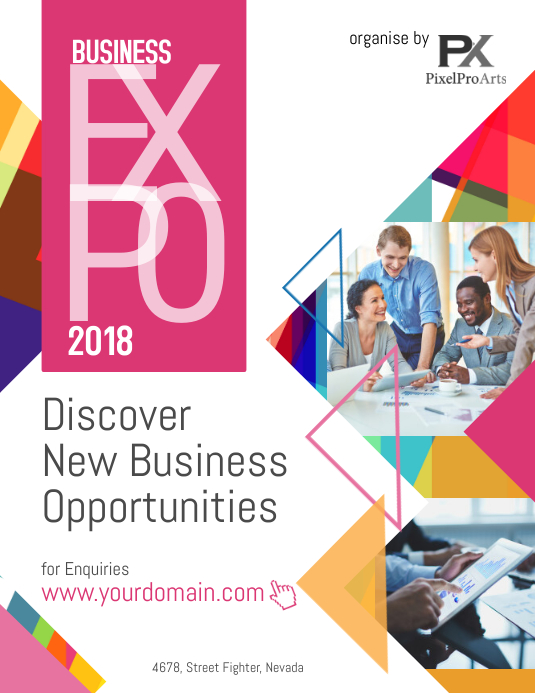 business expo flyer poster template postermywall