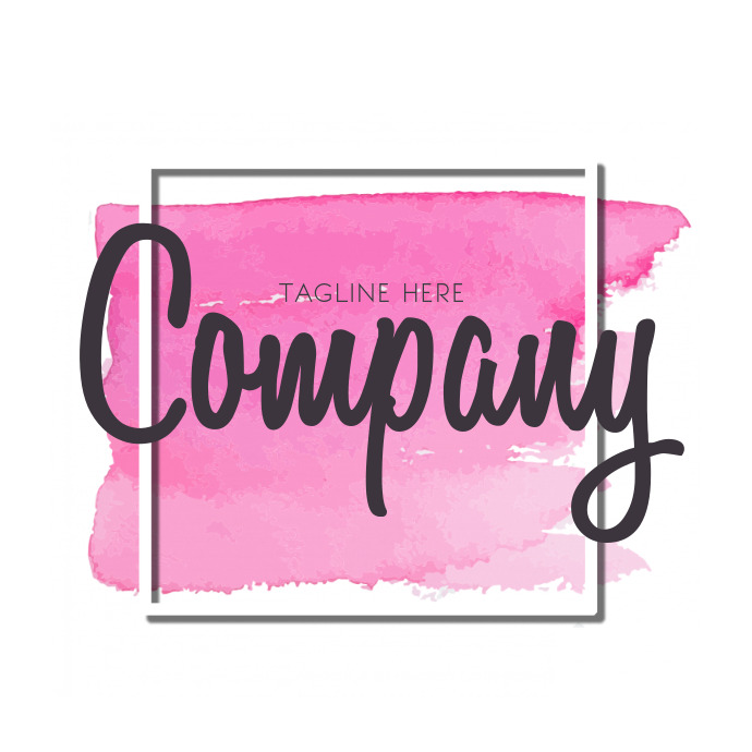 Business Fashion Pink Watercolor logo design
