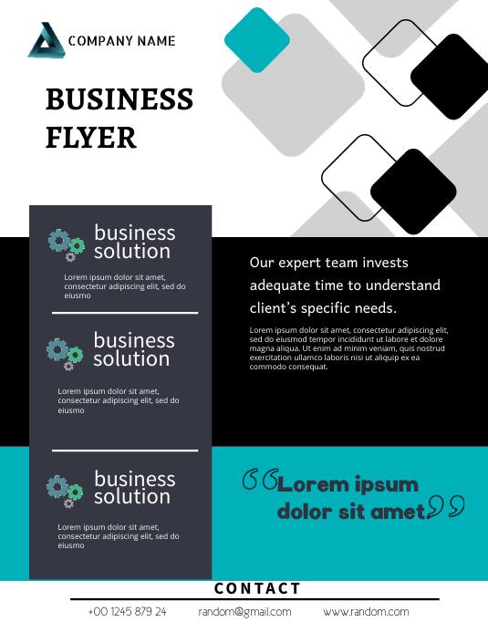 Business Flyer Løbeseddel (US Letter) template
