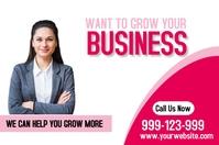 Business flyer Cartel de 4 × 6 pulg. template