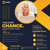business flyer design Persegi (1:1) template
