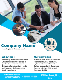 Business flyer professional service office ad