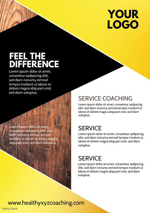 Business Flyer Services Brochure Company Ad A4 template