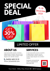 Business Flyer Special Deal Offer Info Sheet A4 template
