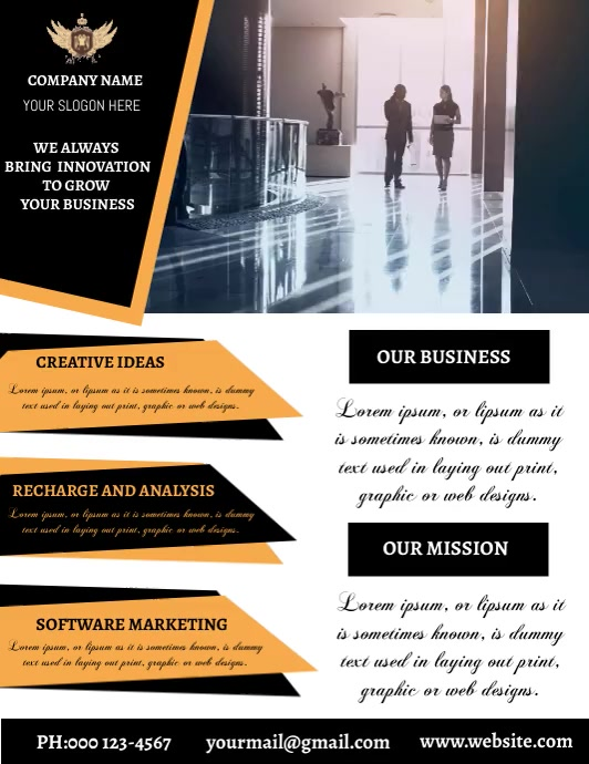 BUSINESS FLYER TEMPLATE Folder (US Letter)