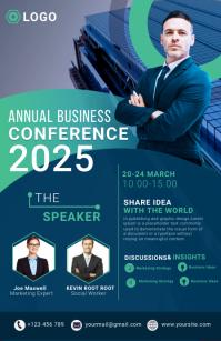 business flyer template Kalahating pahina na Wide