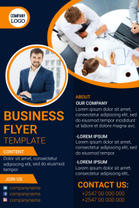 Business flyer template Póster