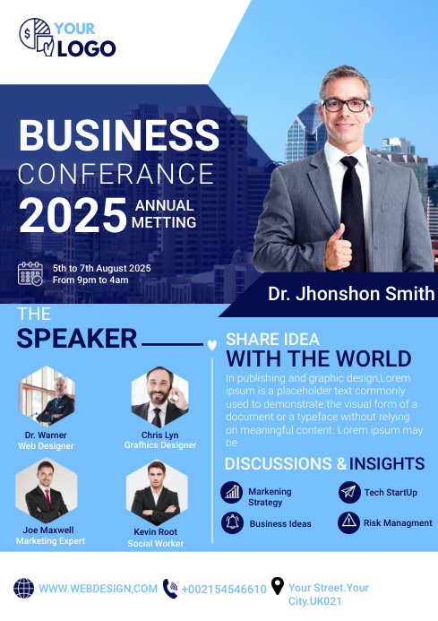 business flyer template A4