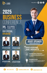 business flyer template Half Page Wide