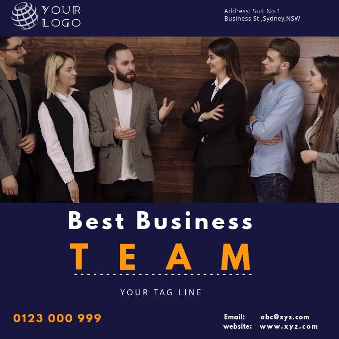 business flyer video template INSTAGRAM