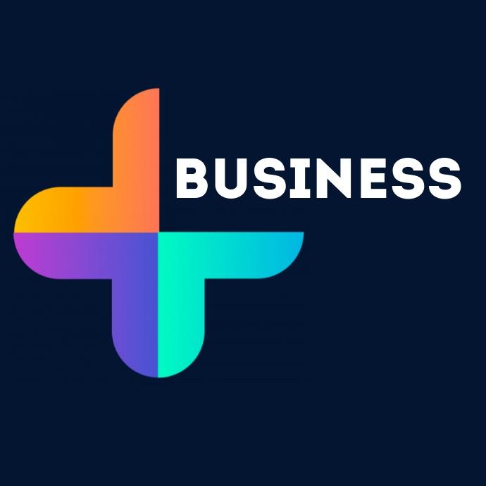 Business geometric logo Логотип template