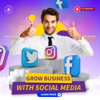 Business Grow Persegi (1:1) template