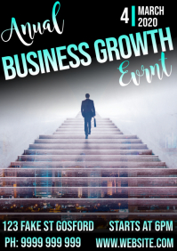 Business growth A5 template