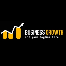 Business growth finance logo Логотип template