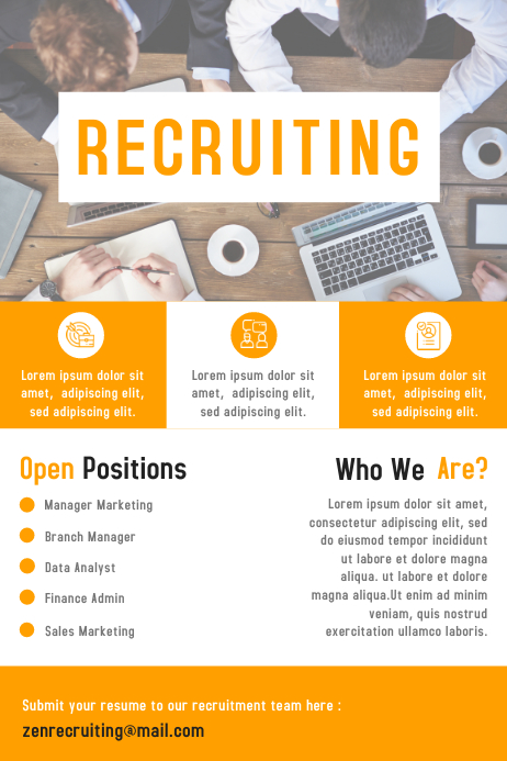 Business Hiring Poster & Flyer Design Template