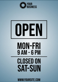 Business hours a4 prinable template modern