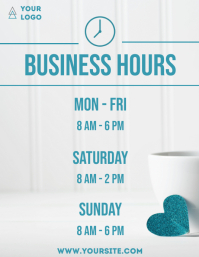 Business hours coffee shop house flyer